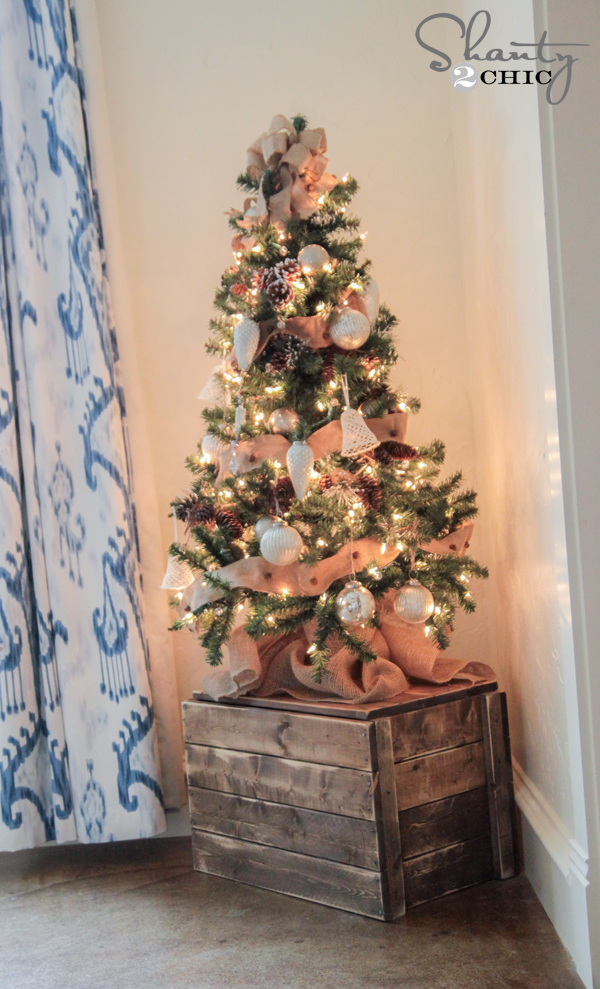 Free Wooden Christmas Tree Patterns.Diy Christmas Tree Crate Shanty 2 Chic