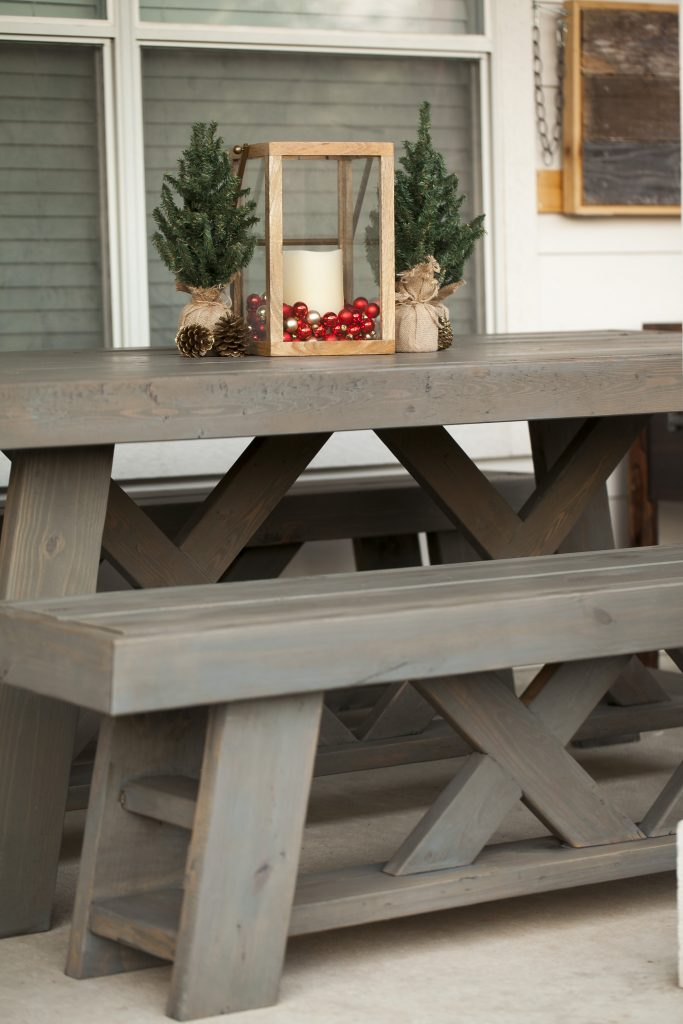 DIY Outdoor Patio Table Amp Benches Shanty 2 Chic