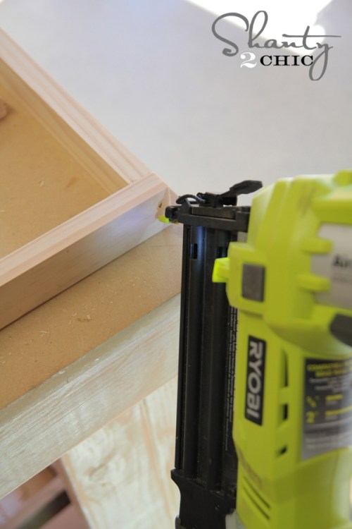 Nail Gun on Corner of Centerpiece