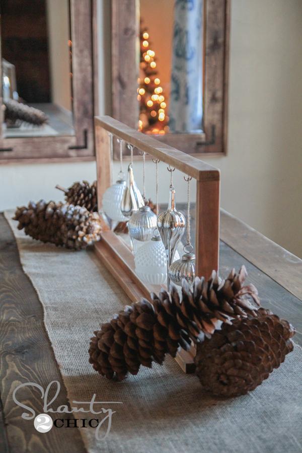 Shanty2Chic Christmas Ornament Centerpiece