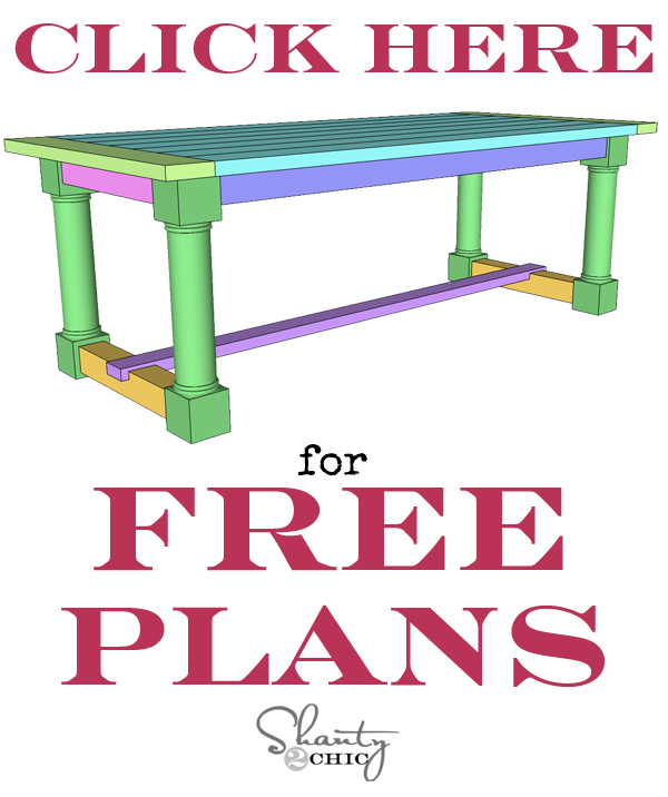 Free Printable Dining Table Plans