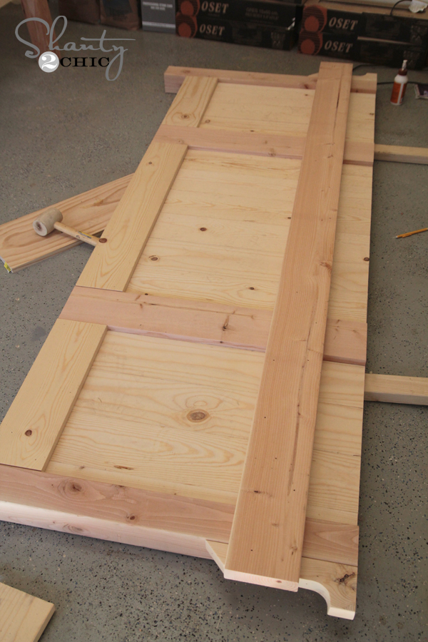 Building a king footboard