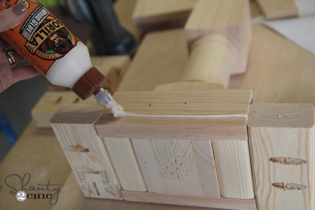 Building the bench leg