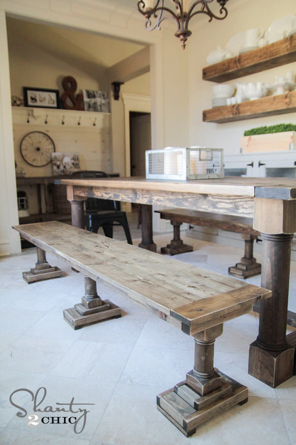 DIY Dining Benches by Shanty2Chic