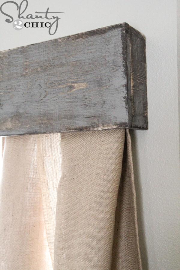 Simple Window Treatments Cornice Box