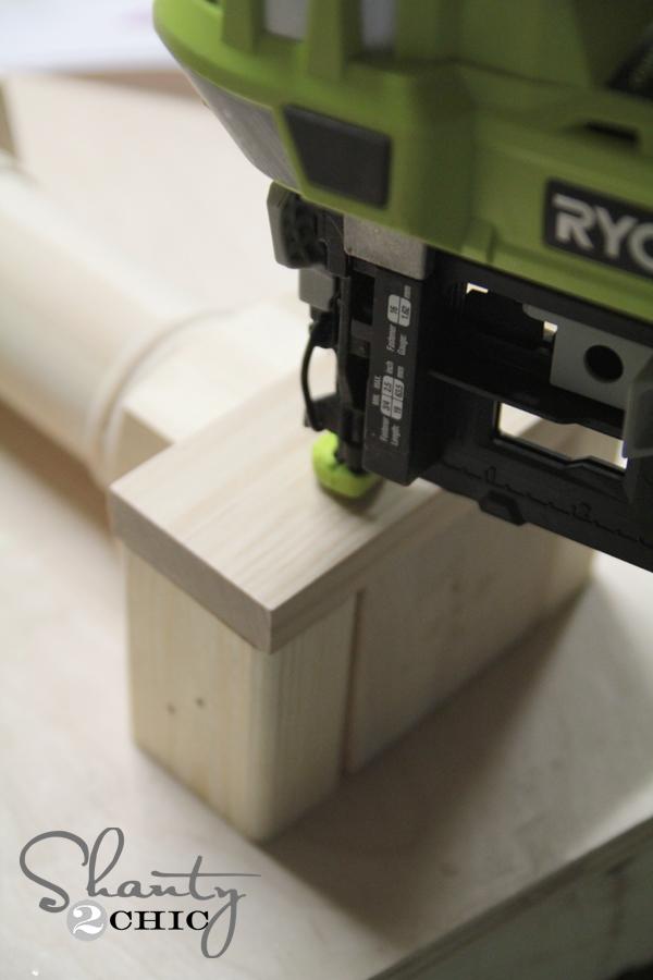 Finish nailer to build bench