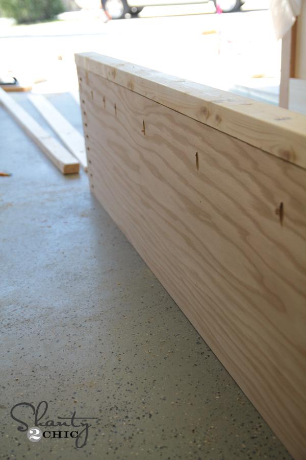 Inside of bed rail