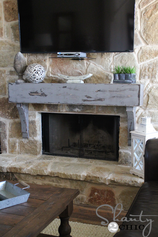 Swell How To Build And Hang A Mantel On A Stone Fireplace Shanty Interior Design Ideas Inesswwsoteloinfo