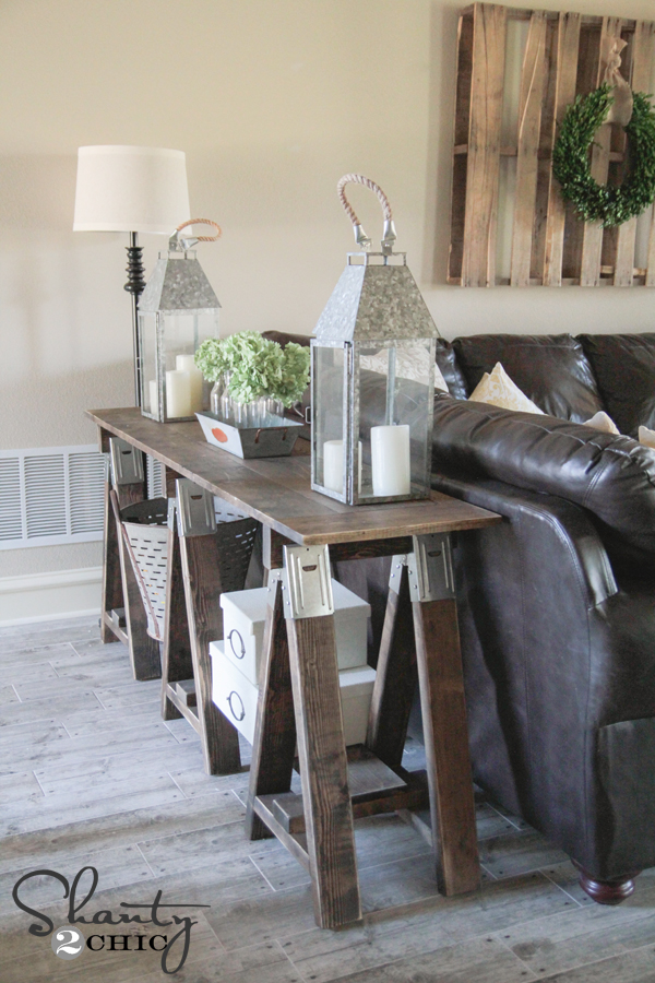 Sawhorse Console Table DIY by Shanty2Chic
