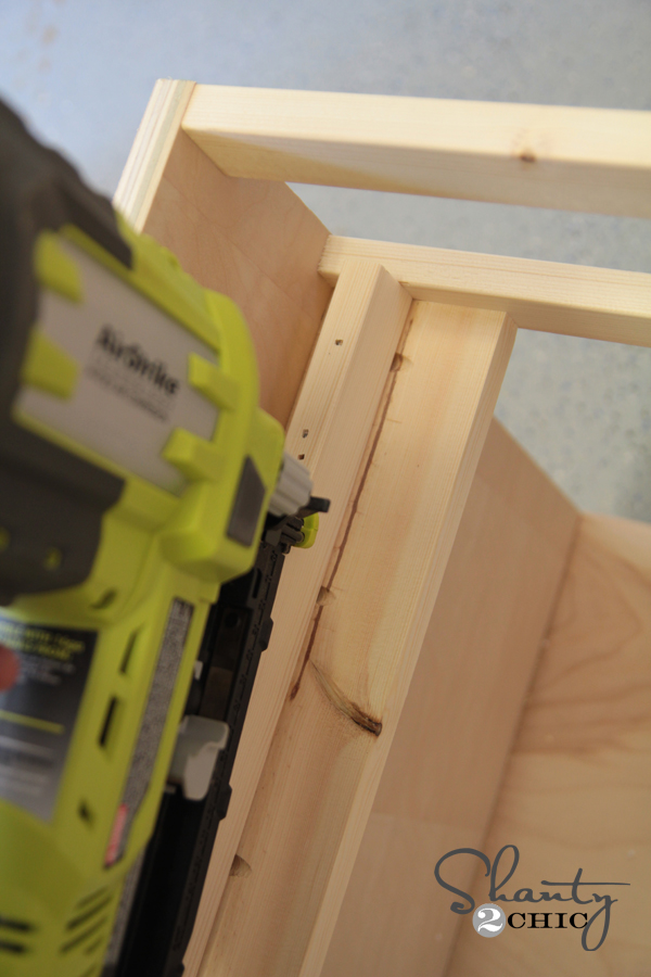 drawer supports attaching