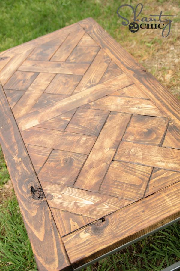 DIY Patterned Wood Tabletop