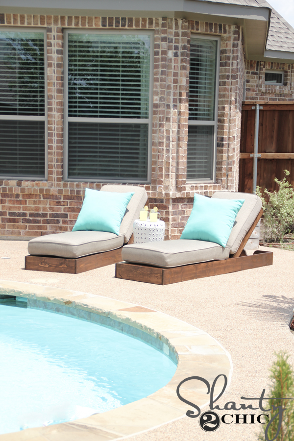 DIY Outdoor Lounge Chairs - Shanty 2 Chic