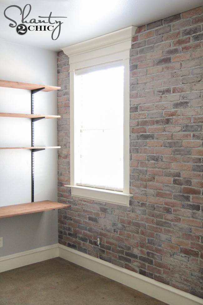 DIY Thin Brick Wall Tutorial by Shanty2Chic