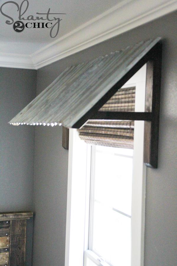 DIY Corrugated Metal Awning Shanty 2 Chic