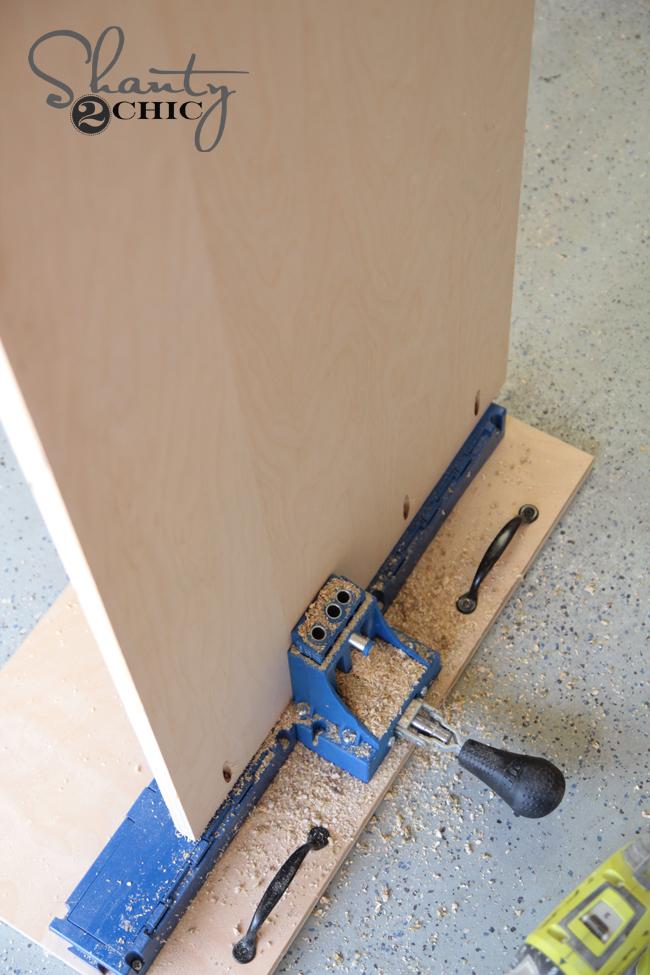 making pocket holes on longer boards