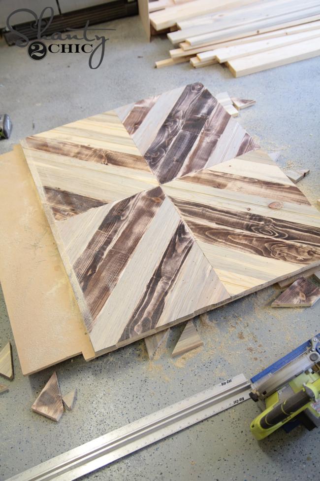 Attach boards for headboard