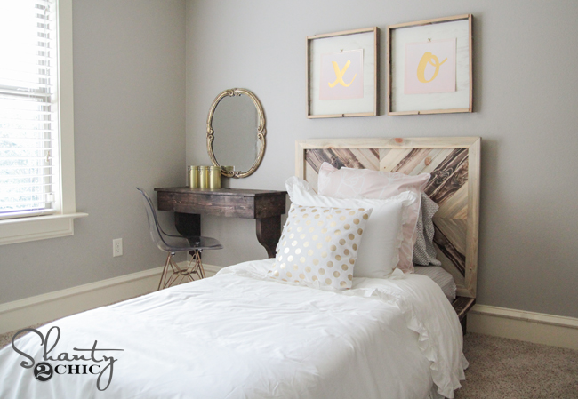Chevron Bed DIY by Shanty2Chic