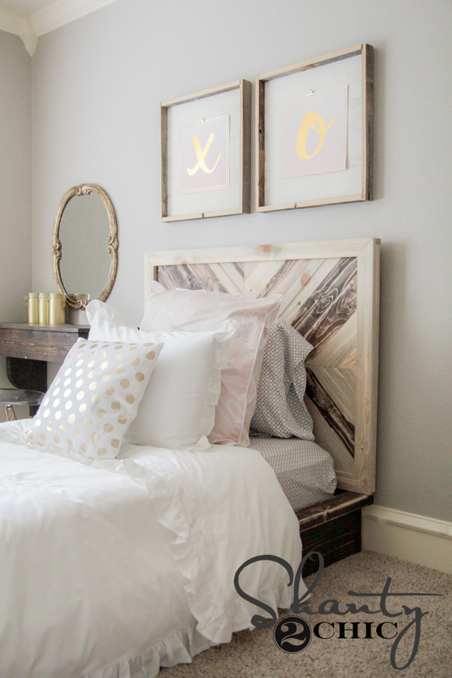 DIY Chevron Platform Bed by Shanty2Chic