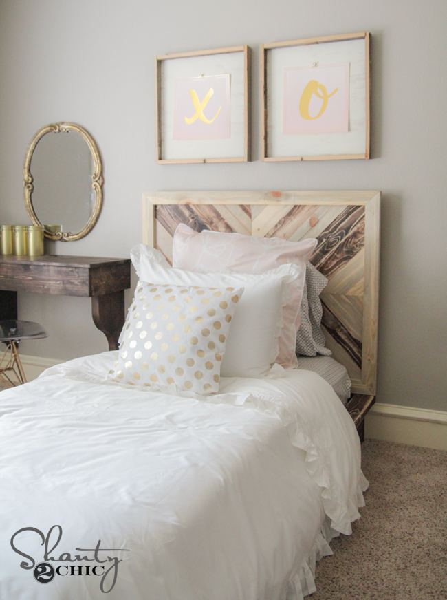 DIY Platform Chevron Bed by Shanty2Chic