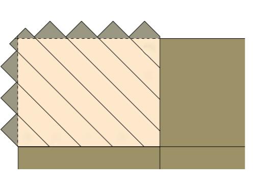 First corner of headboard