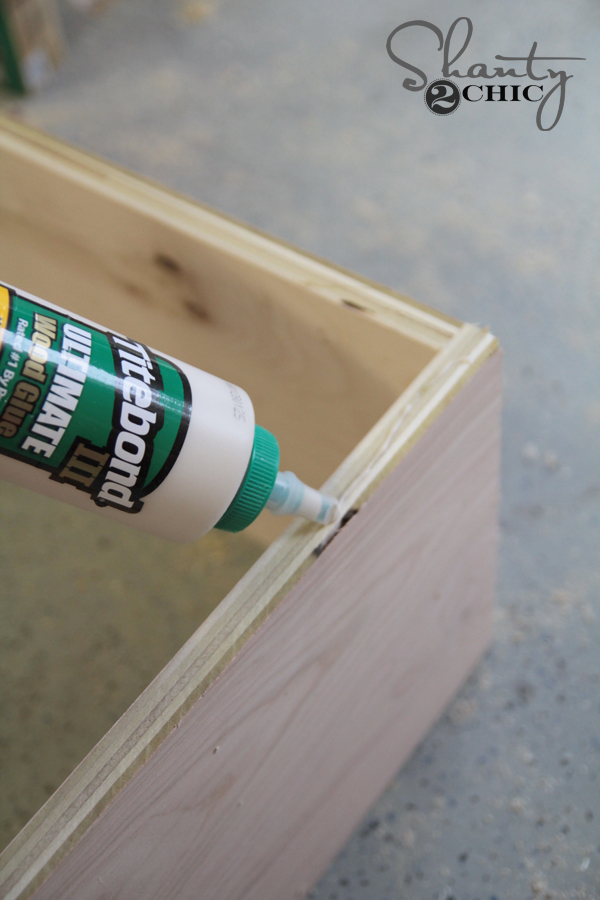 glue and nail bases to drawers