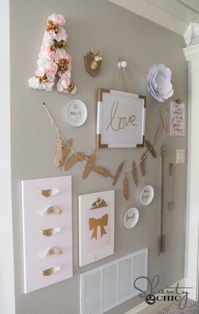 DIY Feature Wall by Shanty2Chic
