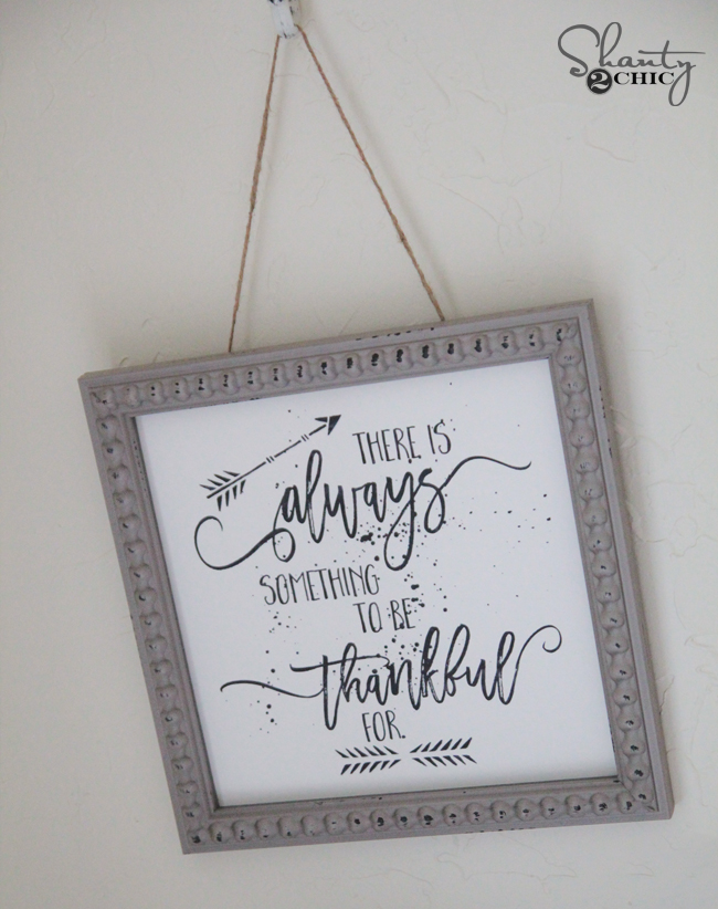 """There is always something to be thankful for.""  Free Fall Printable in various sizes 