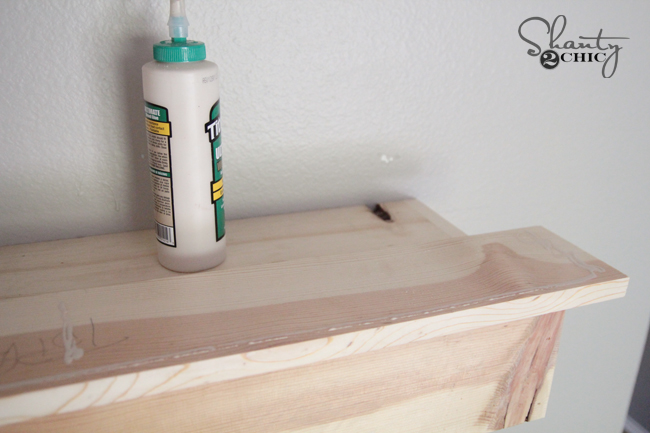 add glue to front board