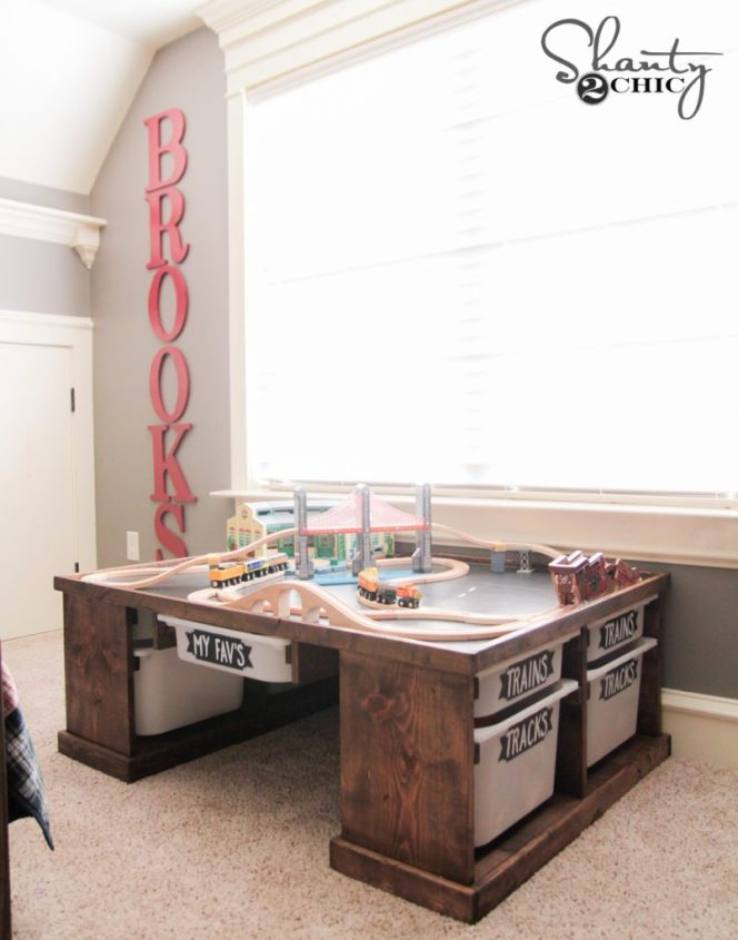 DIY Train or Lego Table by Shanty2Chic