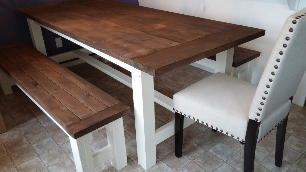 Farmhouse Table Benches Shanty 2 Chic