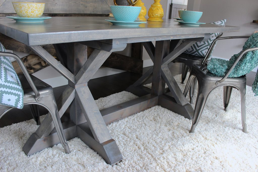 Weathered Grey Farmhouse Table Shanty 2 Chic