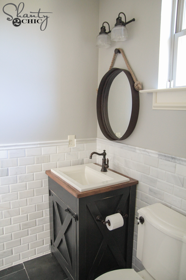 Shanty2Chic DIY Bathroom Vanity Plans