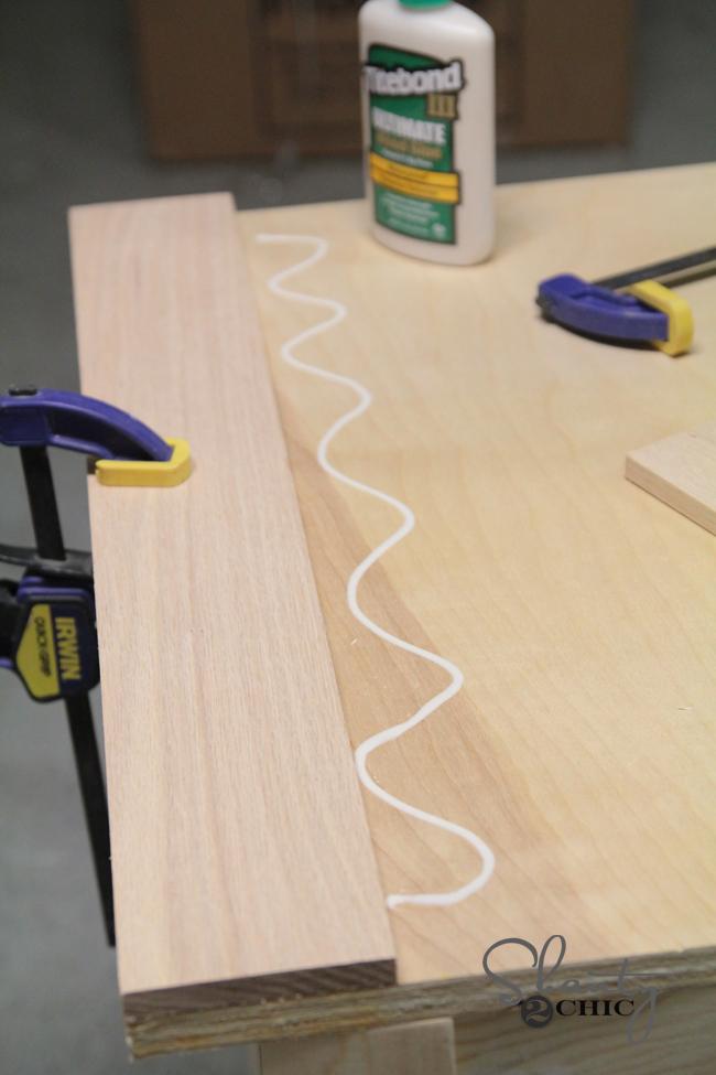 glue down oak boards