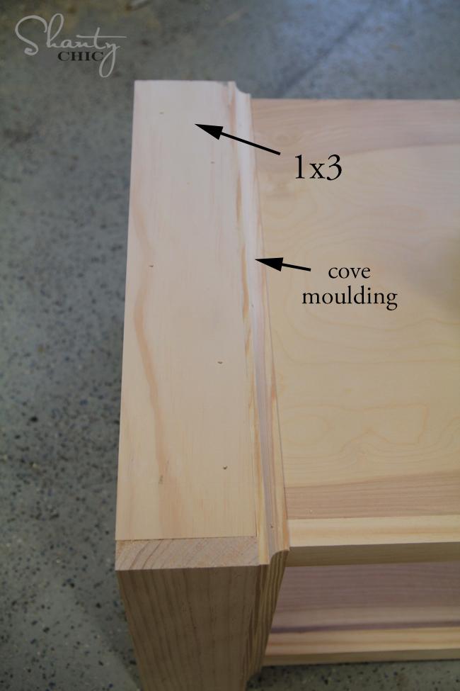 trim side of desk