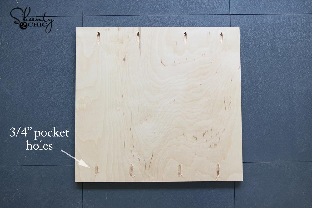 wood for side of desk