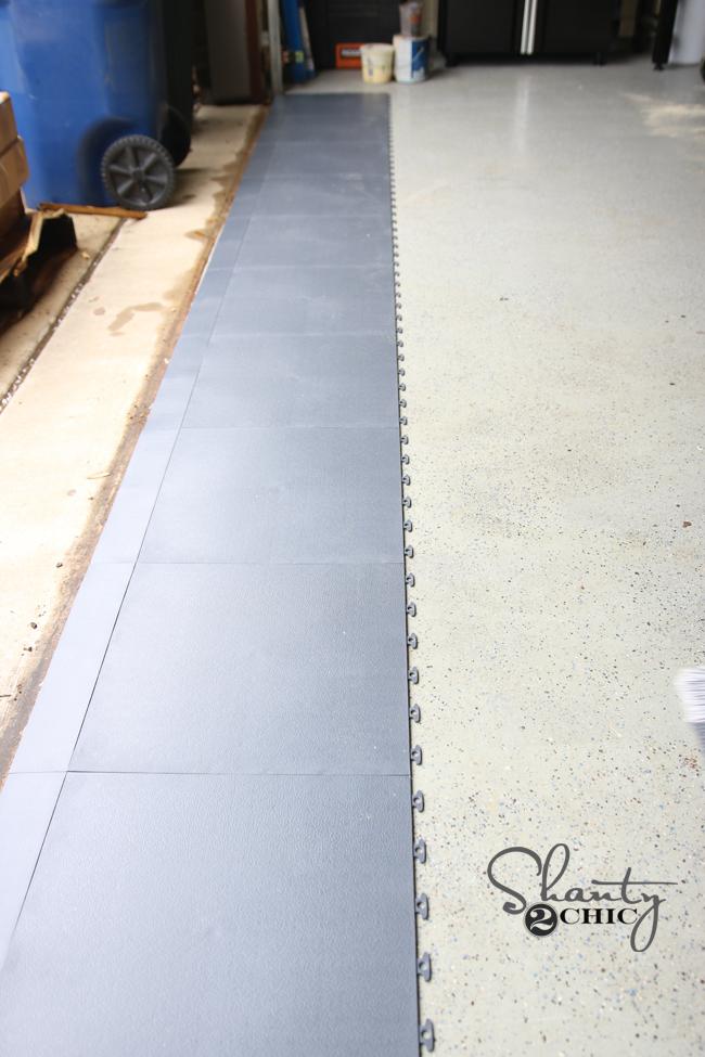 Garage Floor Tiles Installation