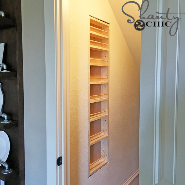 diy spice rack -- fit-spice-rack-between-studs