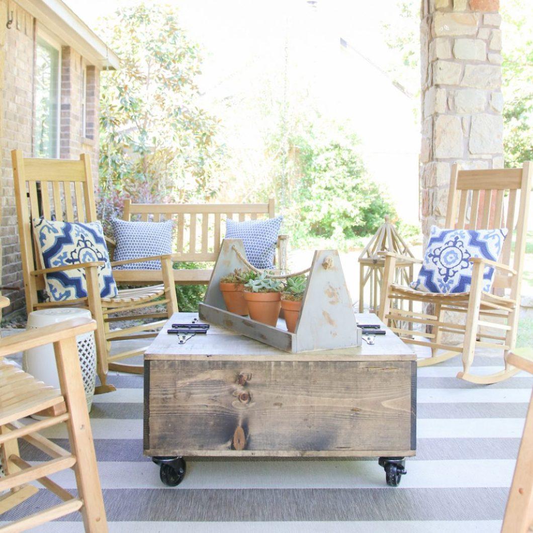 DIY Storage Coffee Table Free Plans