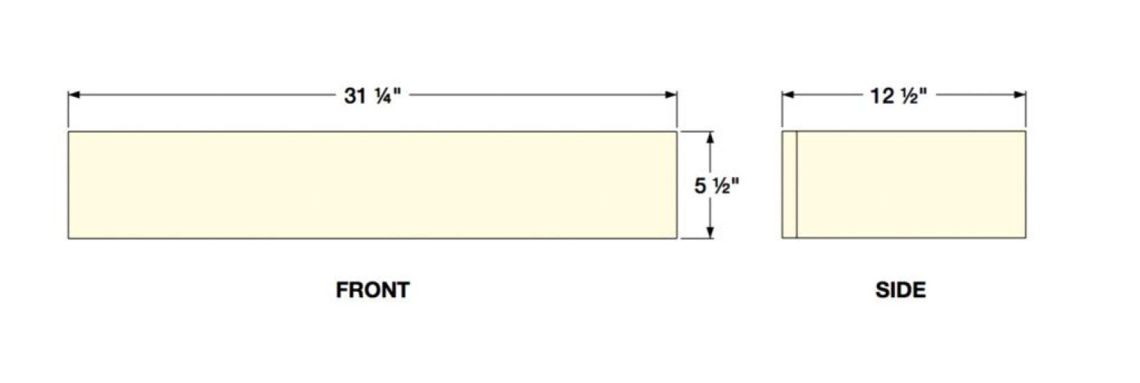 Dimensions of Floating Shelf