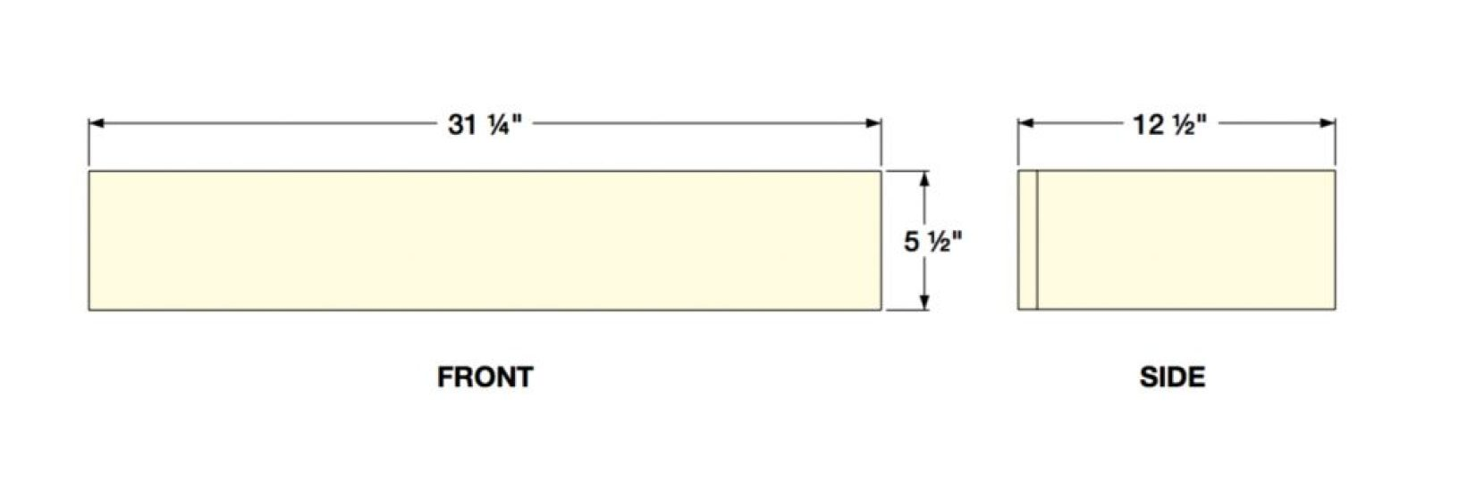 Dimensions of Floating Shelf