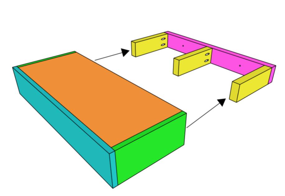 Slide Floating Shelf over Support
