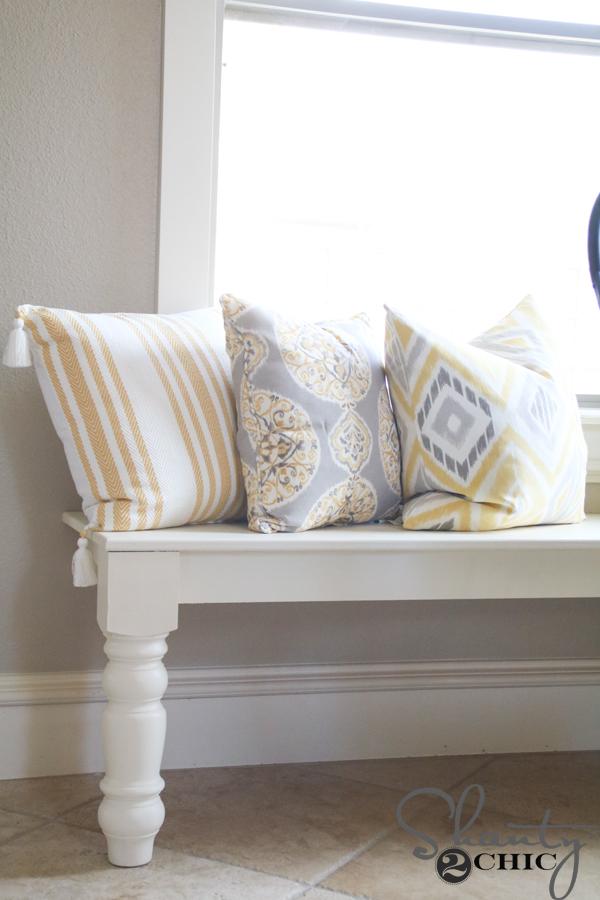 Astonishing Diy Window Bench Shanty 2 Chic Alphanode Cool Chair Designs And Ideas Alphanodeonline