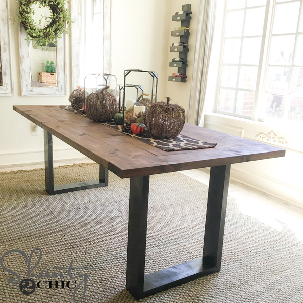 Diy Rustic Modern Dining Table Shanty 2 Chic