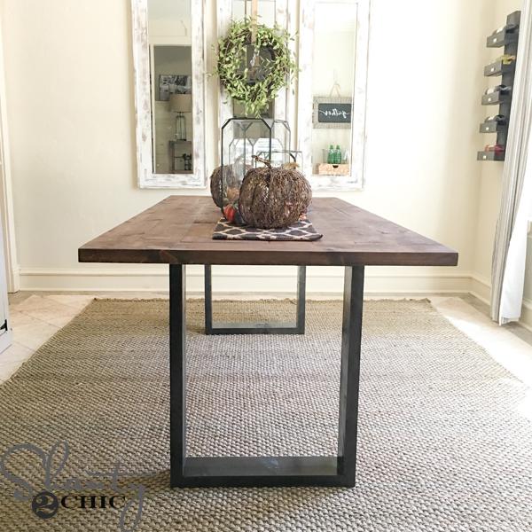 diy-rustic-modern-dining-table