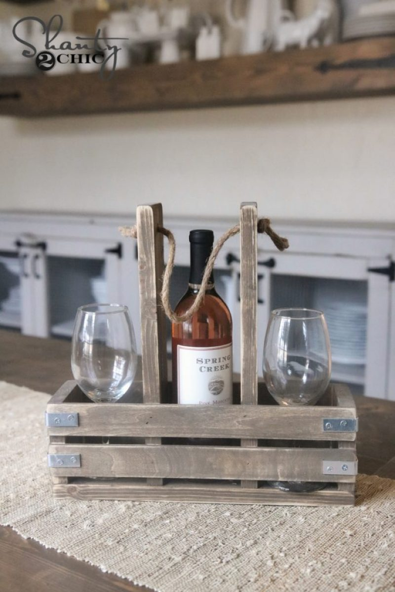 Shanty 2 Chic: DIY Wine Caddy And YouTube Video!