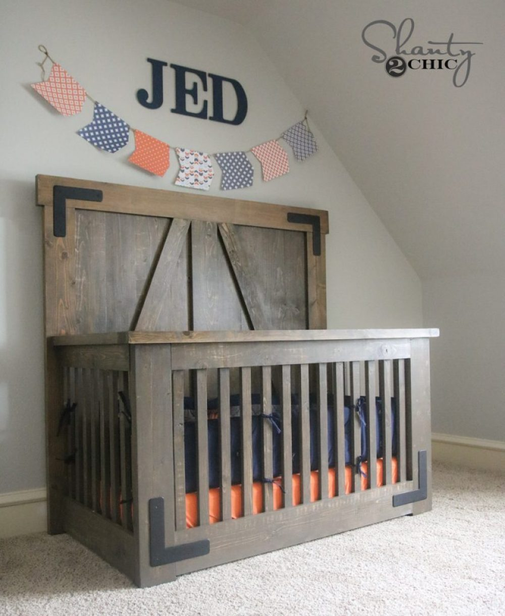 DIY Farmhouse Crib