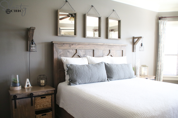 DIY Rustic Modern King Bed