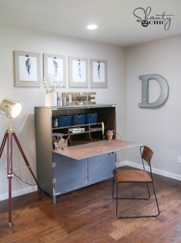 Diy Flip Top Secretary Desk As Seen On Hgtv Open Concept Shanty 2 Chic