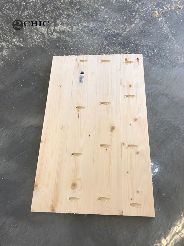 Sliding Barn Door Nightstand diy