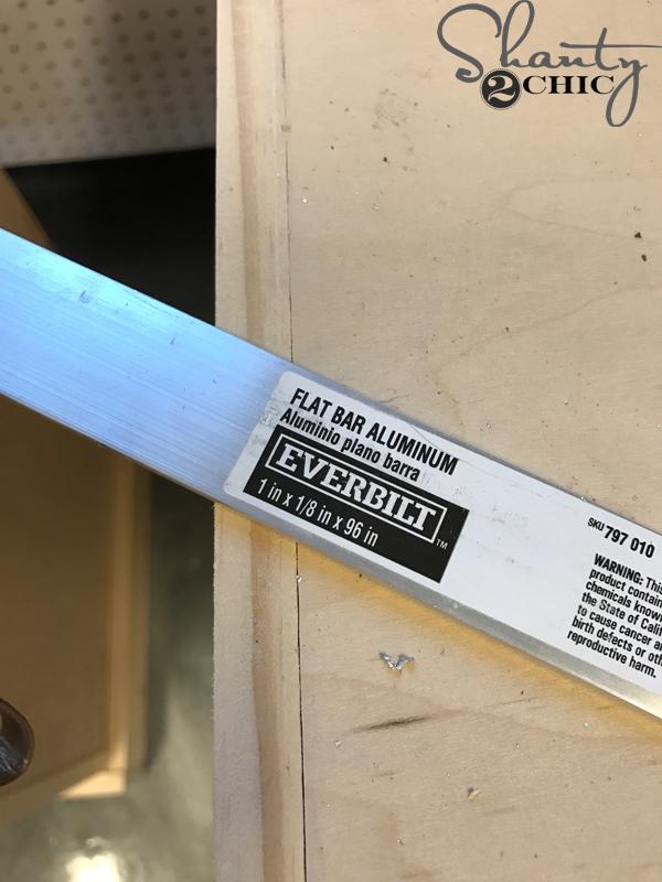 DIY Barn Door Hardware - track